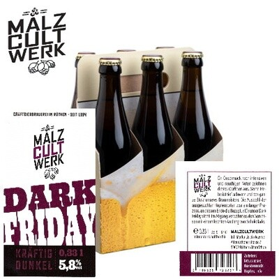 Sechserpack Dark Friday 6 x 0,33l