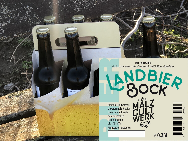 Sechserpack Landbier Bock 6 x 0,33l