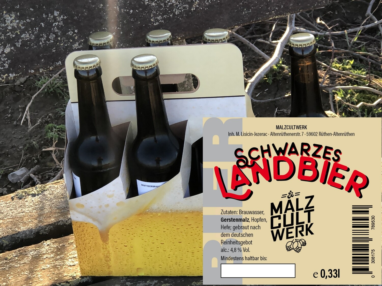 Sechserpack Schwarzes Landbier 6 x 0,33l