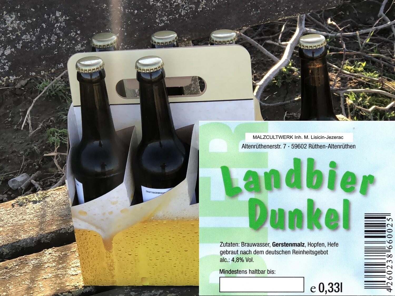 Sechserpack Landbier Dunkel 6 x 0,33l