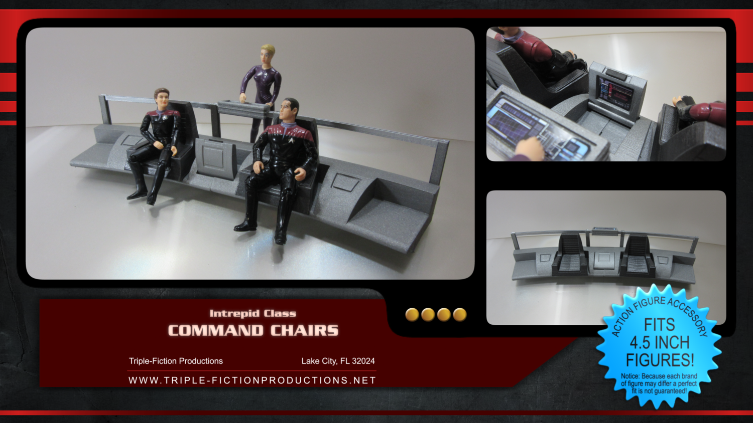 """Intrepid Class - 4.5"""" Scale - Command Chairs"""