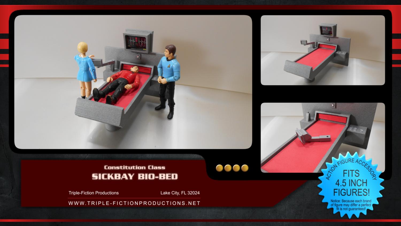 "Constitution Class - 4.5"" Scale - Sickbay Bio-Bed"