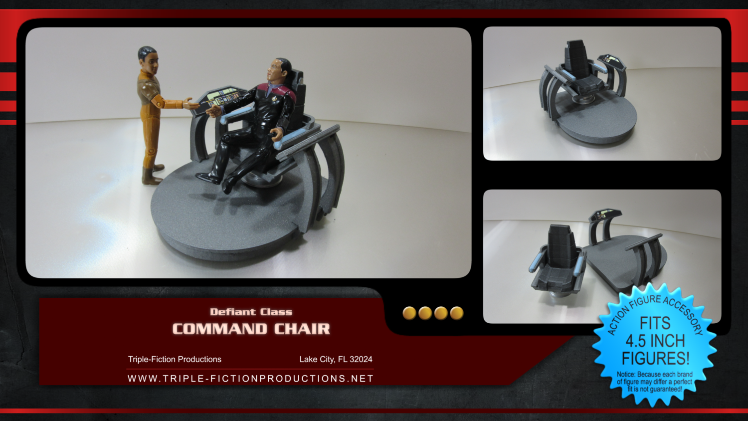 """Defiant Class - 4.5"""" scale - Command Chair"""