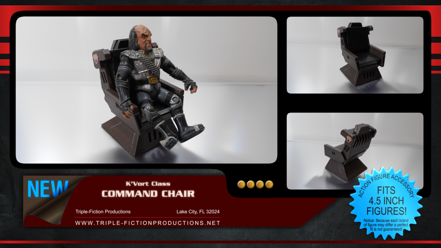 "K'vort Class  - 4.5"" Scale - Command Chair"