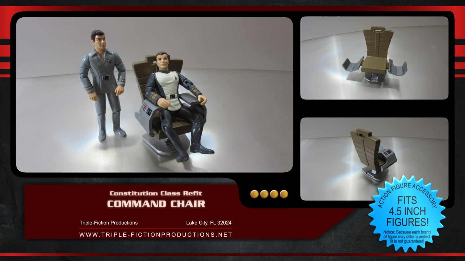 "Constitution Class Refit - 4.5"" Scale - Command Chair"
