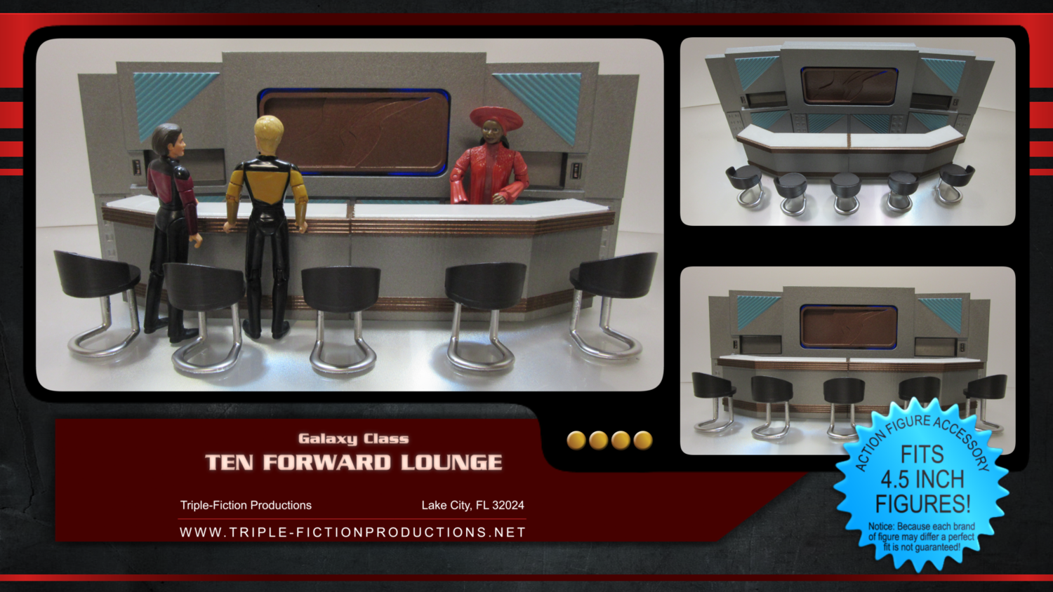 "Galaxy Class - 4.5"" Scale - Ten Forward Lounge"