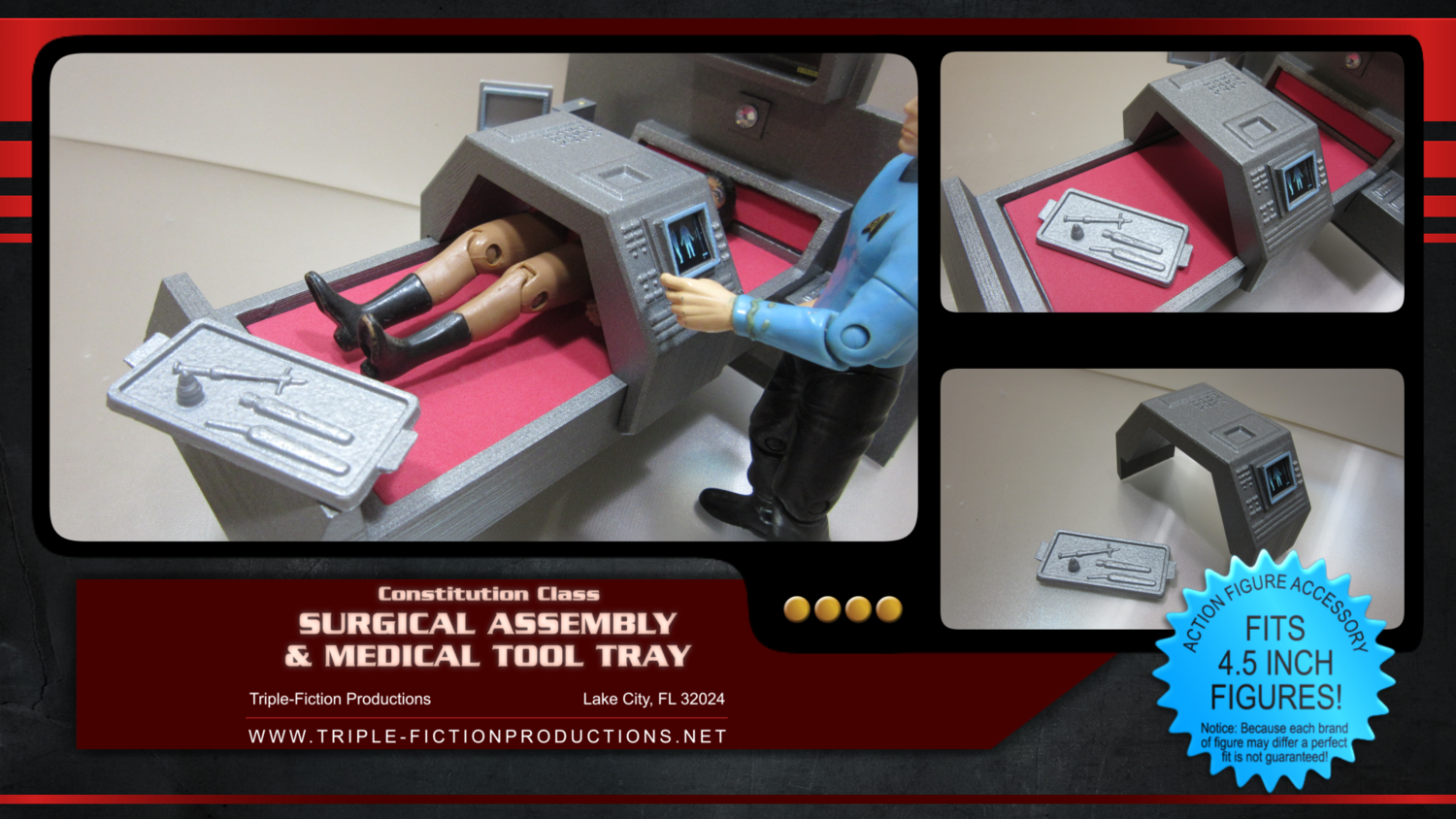 """Constitution Class - 4.5"""" Scale - Surgical Assembly and Medical Tray"""