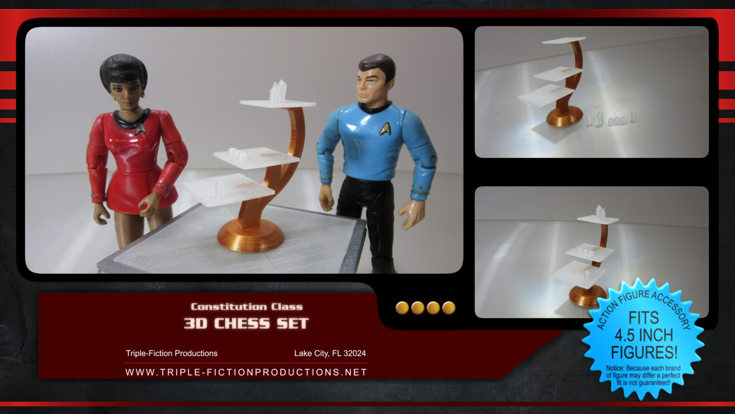 "Constitution Class - 4.5"" Scale - 3D Chess Game (Clearance Item)"