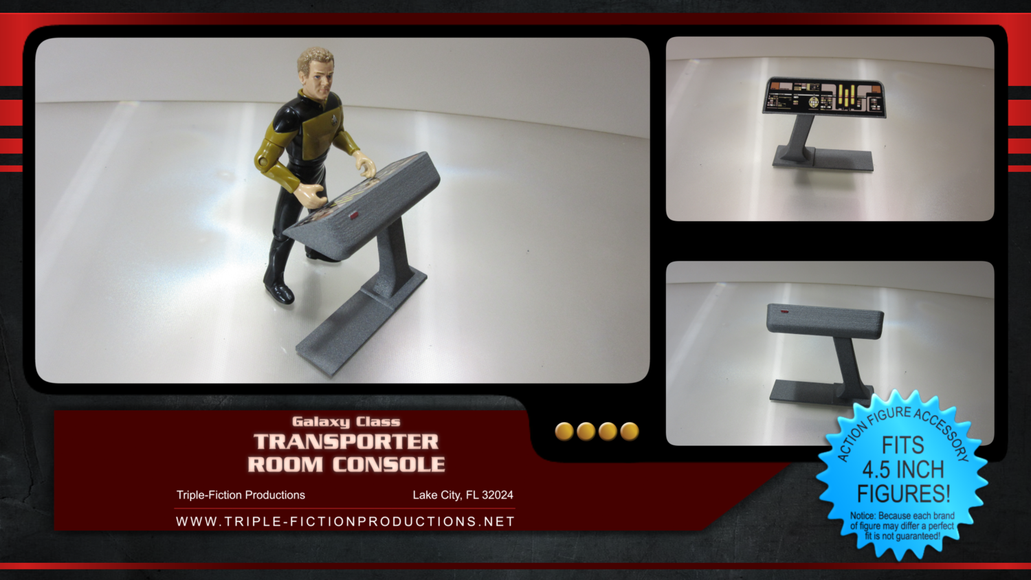 """Galaxy Class - 4.5"""" Scale - Transporter Room Console"""