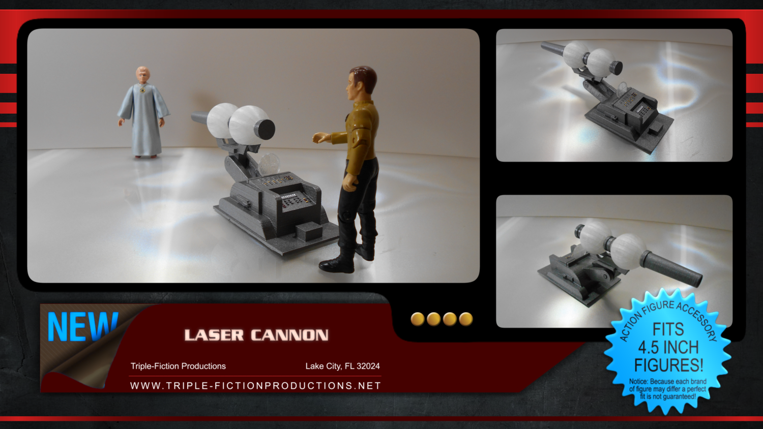 """Constitution Class - 4.5"""" Scale - Laser Cannon"""