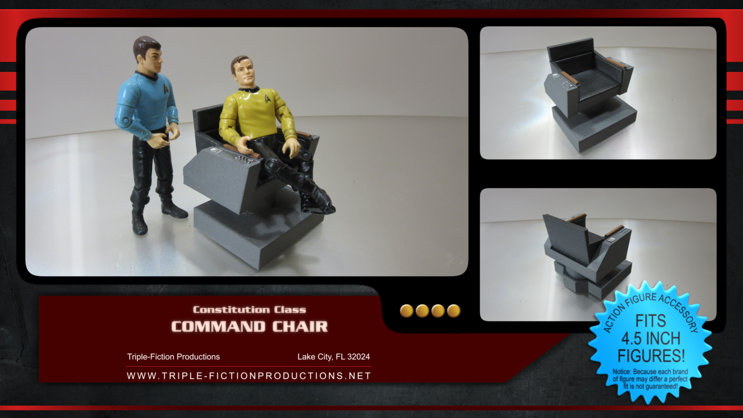 """Constitution Class - 4.5"""" Scale - Command Chair"""