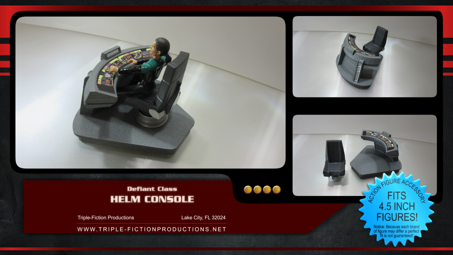 """Defiant Class - 4.5"""" scale - Helm Console"""