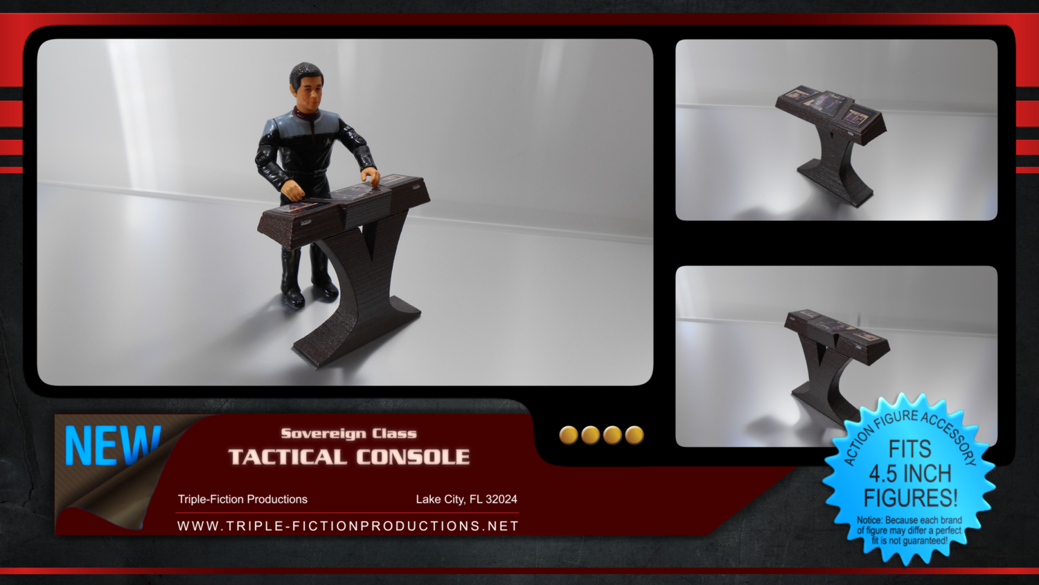 "Sovereign Class - 4.5"" Scale - Tactical Console"