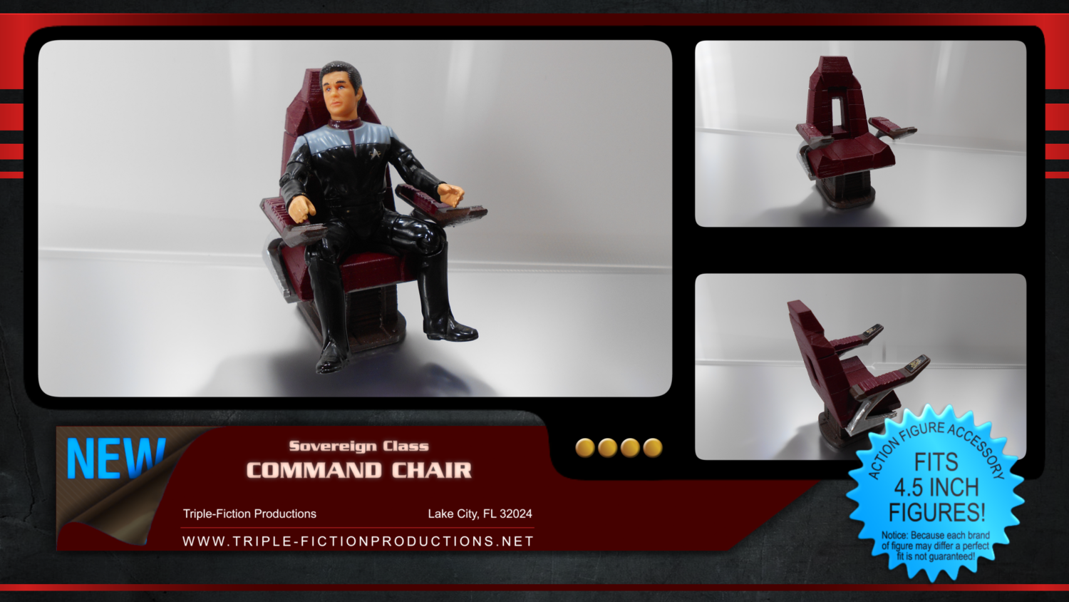 """Sovereign Class - 4.5"""" Scale - Command Chair"""