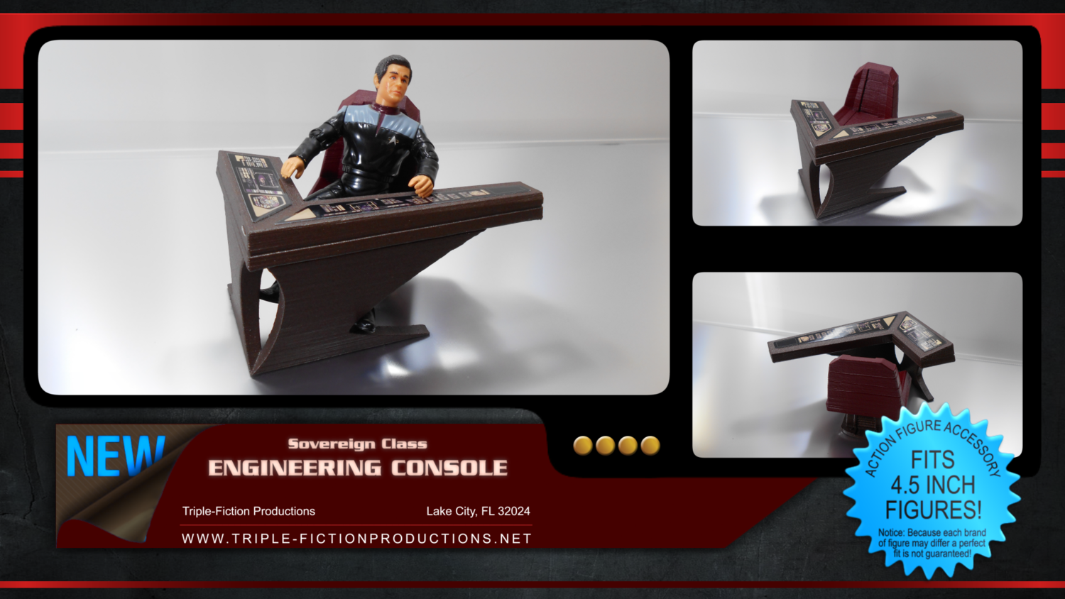 """Sovereign Class - 4.5"""" Scale - Engineering Console"""