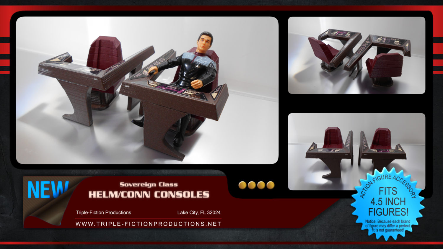 """Sovereign Class - 4.5"""" Scale - Helm/Conn Console"""
