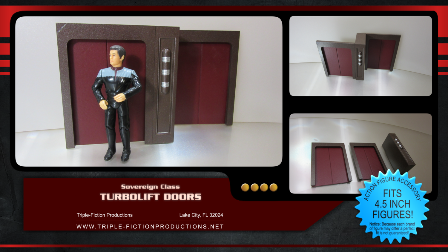"""Sovereign Class - 4.5"""" Scale - Turbolift Doors"""