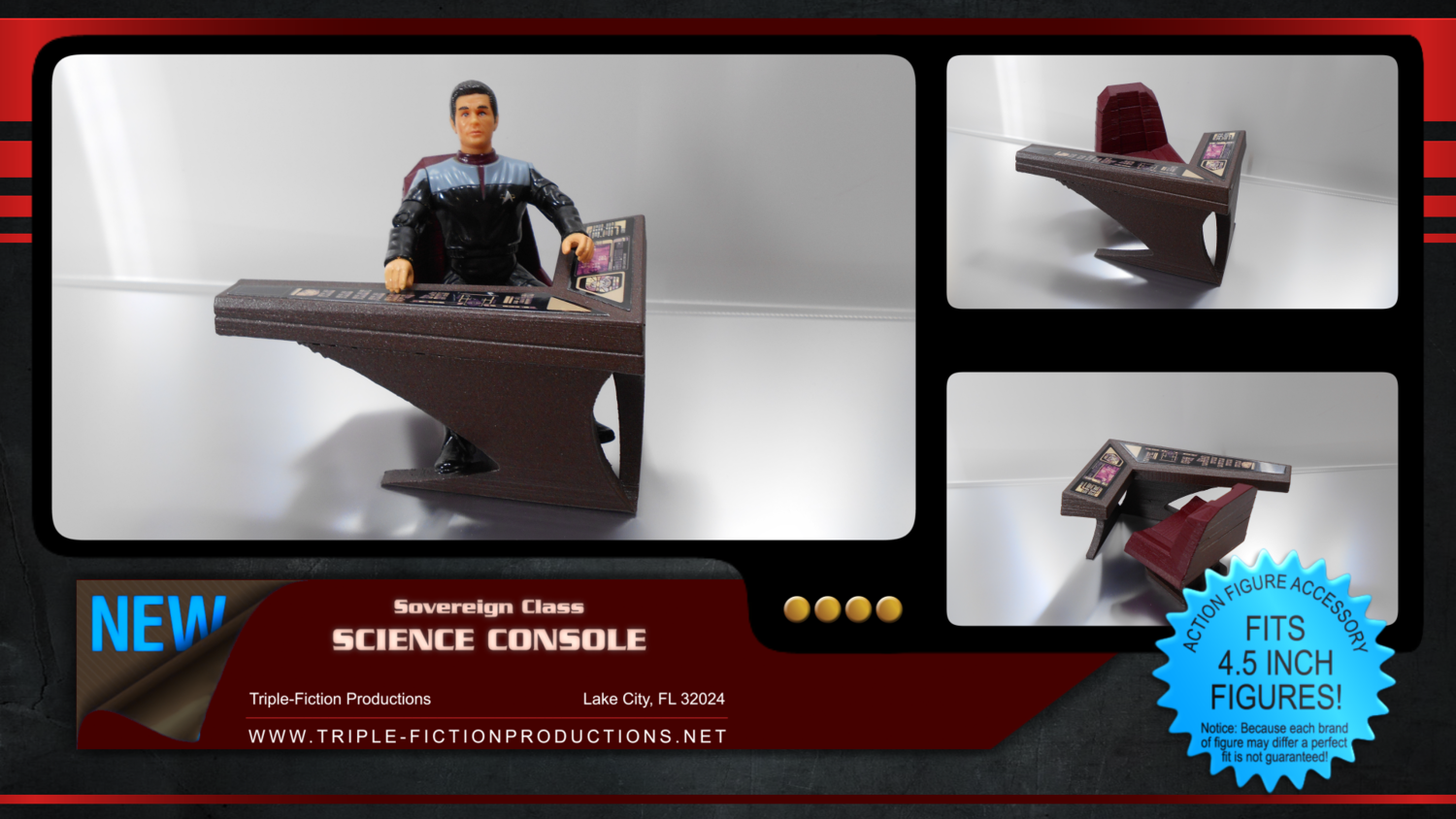 """Sovereign Class - 4.5"""" Scale - Science Console"""