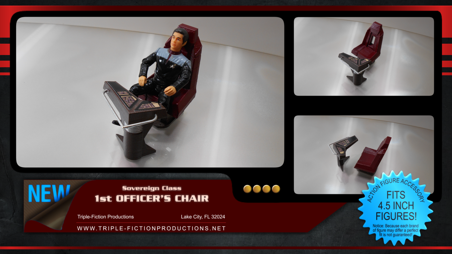 """Sovereign Class - 4.5"""" Scale - First Officer's Console"""