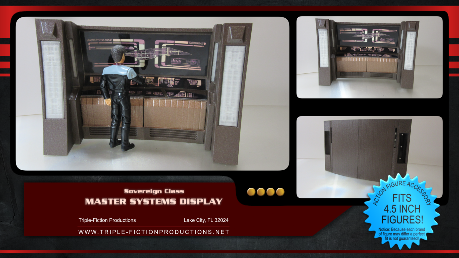 """Sovereign Class - 4.5"""" Scale - MSD (Master Systems Display)"""