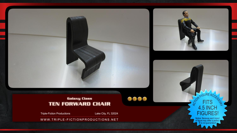 """Galaxy Class - 4.5"""" Scale - Ten Forward Chair"""