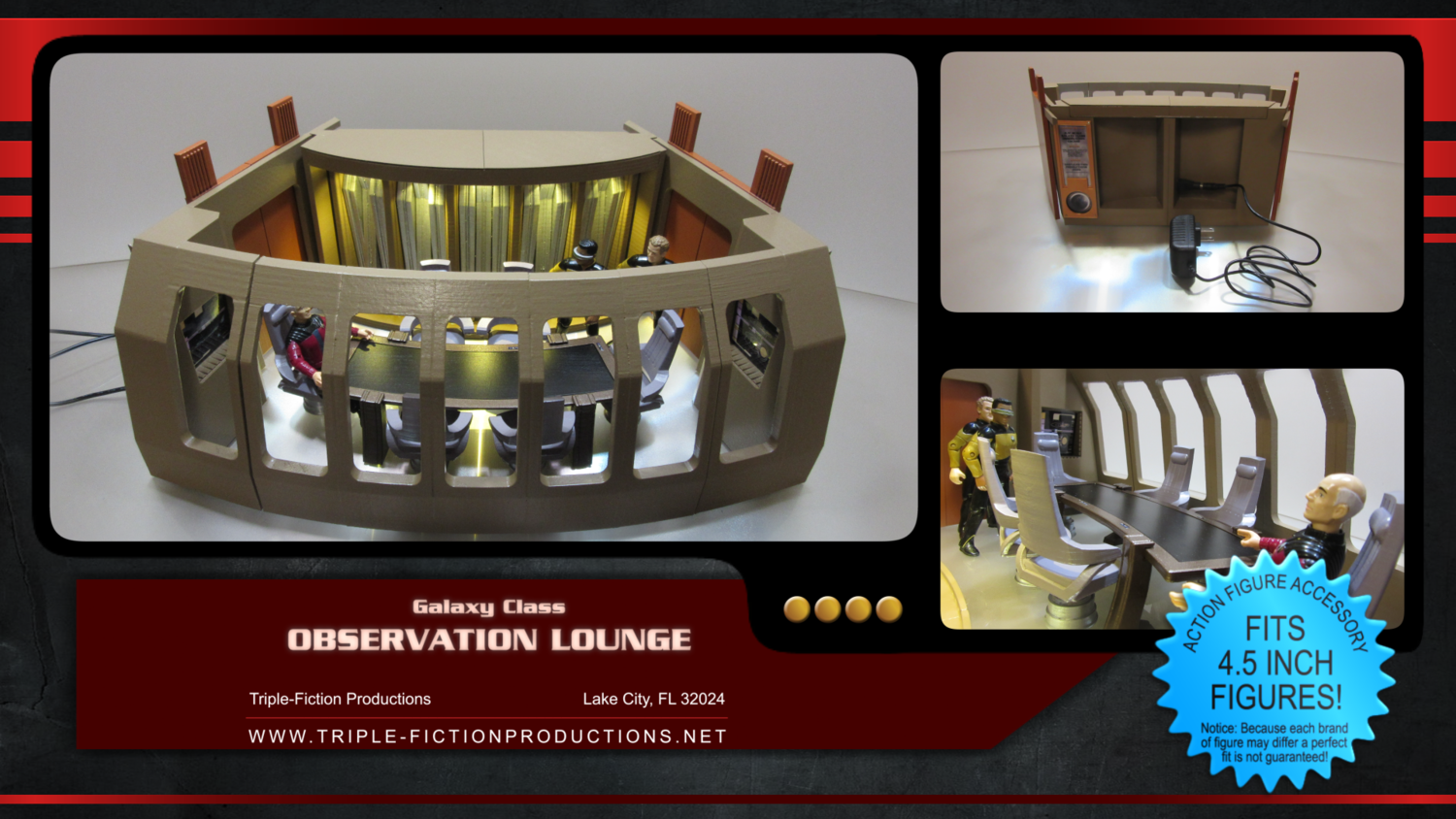 """Galaxy Class - 4.5"""" Scale - Observation Lounge (COMING SOON!)"""