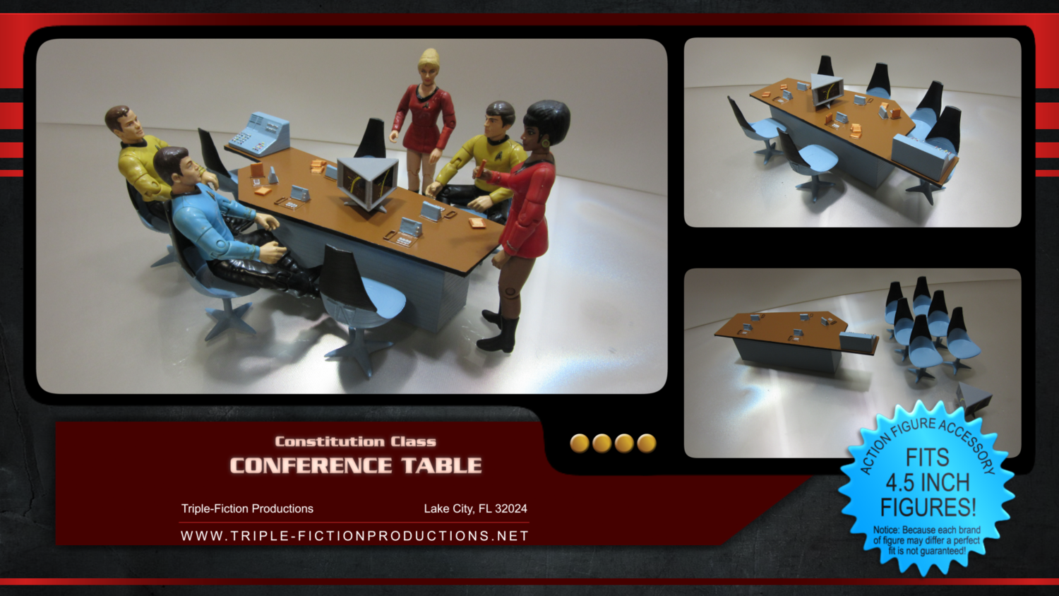 """Constitution Class - 4.5"""" Scale - Conference Table"""
