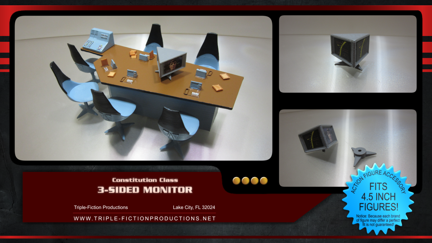 """Constitution Class - 4.5"""" Scale - Three Sided Monitor"""