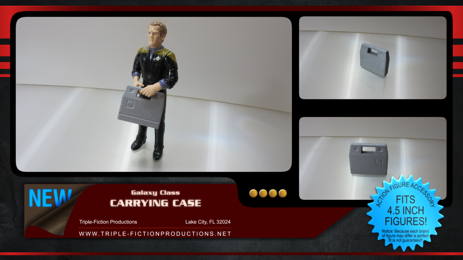 """Galaxy Class - 4.5"""" Scale - Carrying Case"""