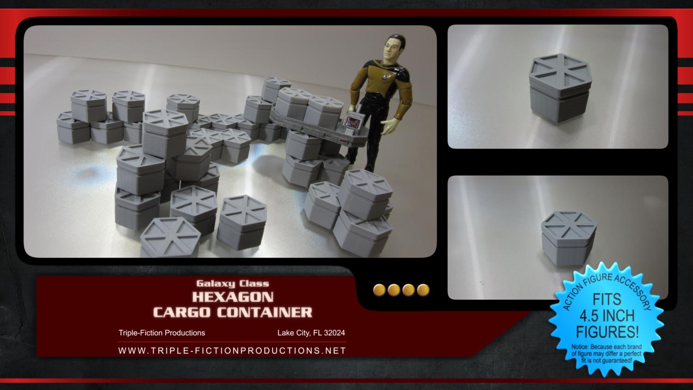 """Galaxy Class - 4.5"""" Scale - Hexagon Cargo Container (Single)"""