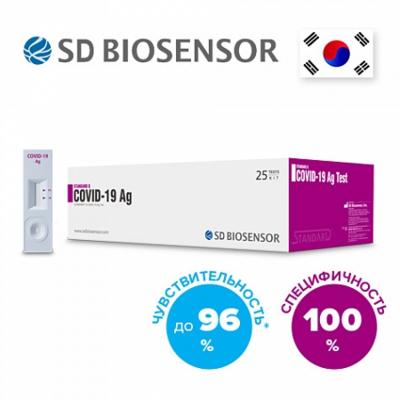 Экспресс-тест на антиген SARS-CoV-2, 25 экспресс-тестов