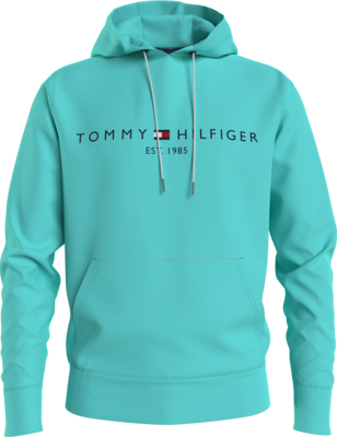 TOMMY HILFIGER | HOODIE | mwomw11599 z21 aqua patterned