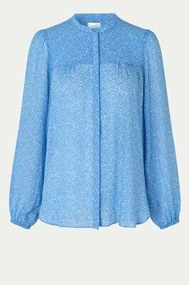 SECOND FEMALE | BLOUSE | mano shirt 54449 blauw