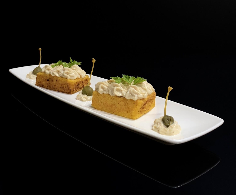 Gelato gastronomico di Baccalà alla Vicentina