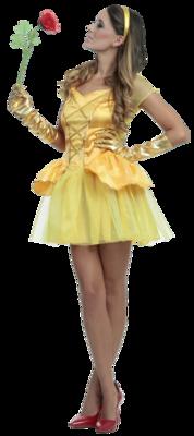 Disfraz Vestido Princesa De La Bella Halloween Mujer