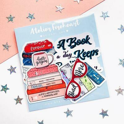 Bookish Vinyl Sticker Pack