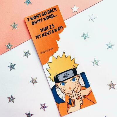 Anime Inspired Naruto Bookmark