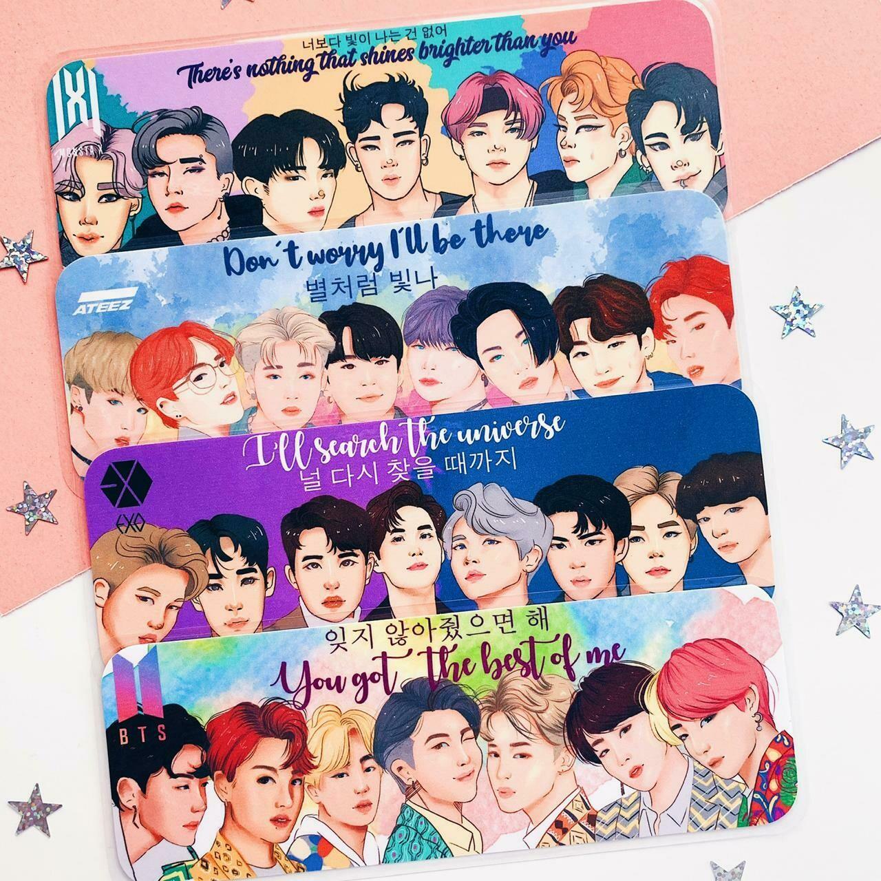 K-pop inspired bookmark BUNDLE
