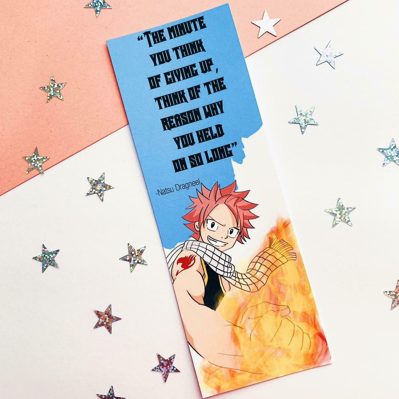 Natsu inspired quote bookmark