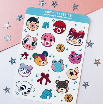 Animal Crossing inspired sticker sheet