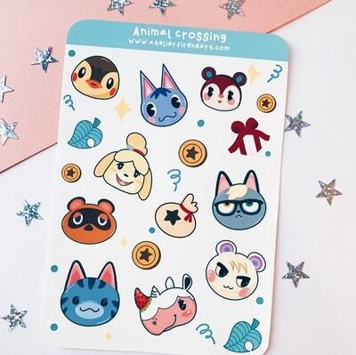 Animal Villager inspired Sticker Sheet