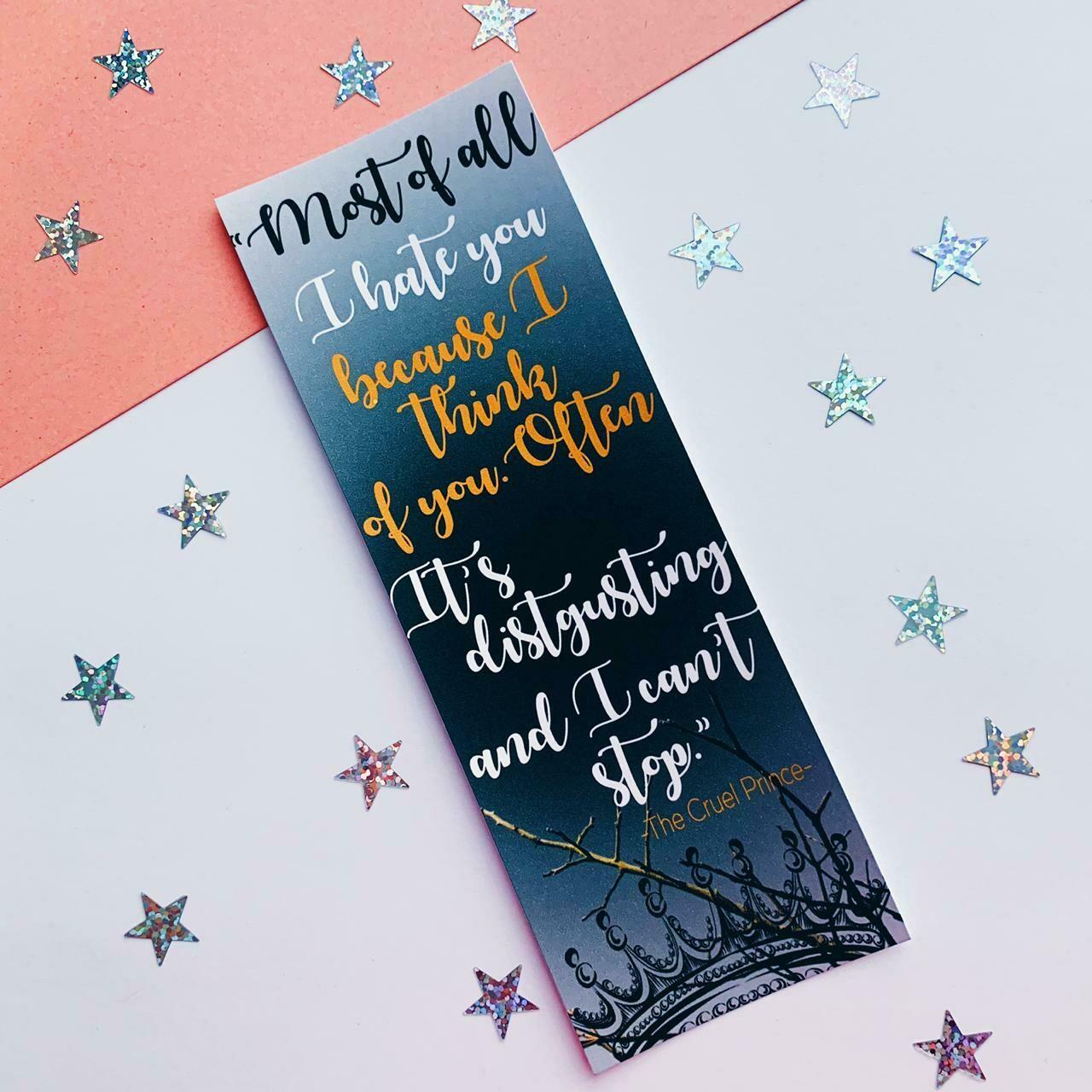 The Cruel Prince inspired bookmark