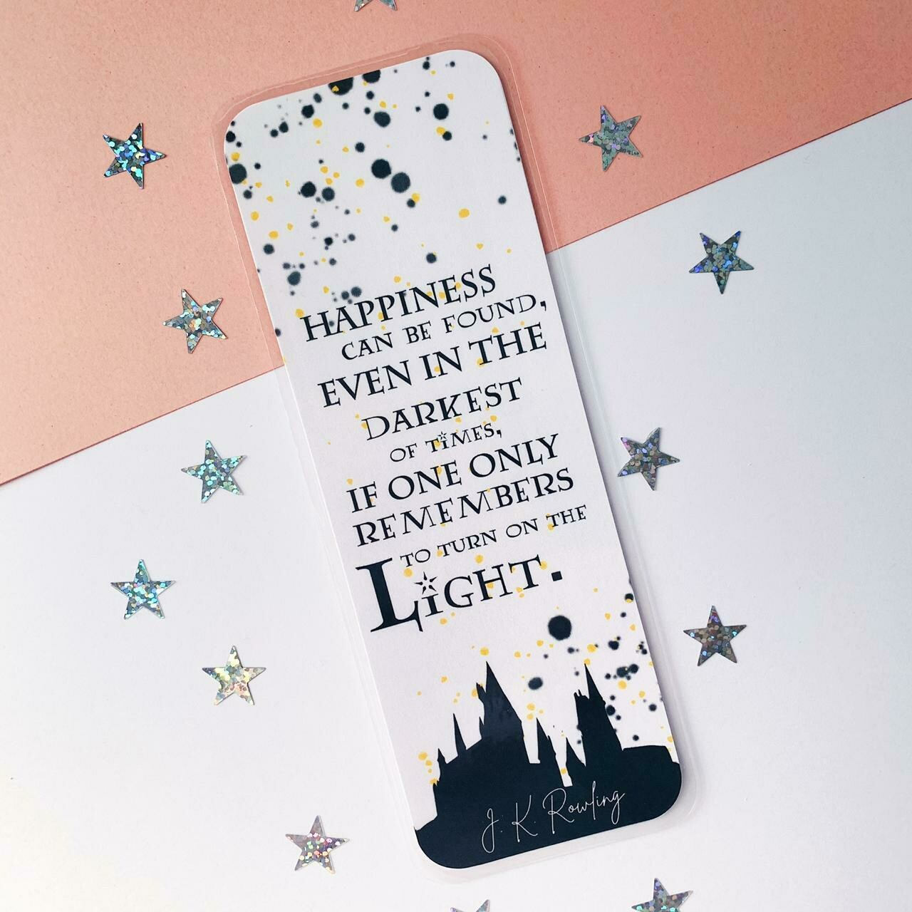 HP inspired quote bookmark