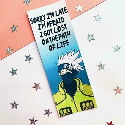Kakashi inspired bookmark