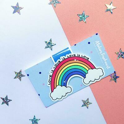 Rainbow love is love bookmark