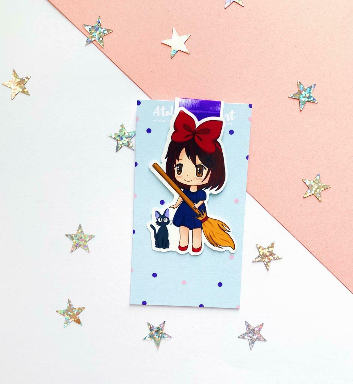 Kiki's inspired magnetic bookmark