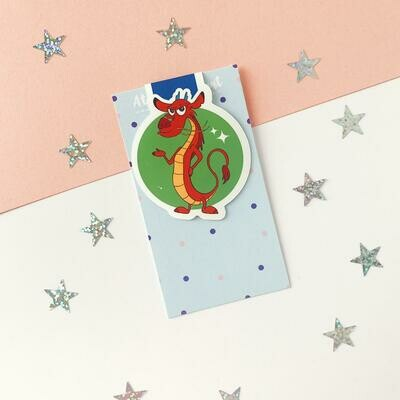 Cute sidekick inspired magnetic bookmark