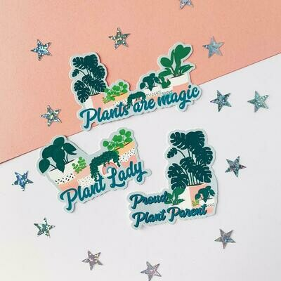 Plants are magic sticker pack