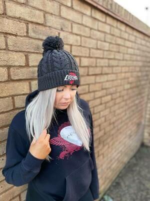 Pom Pom Hat - Charcoal Grey