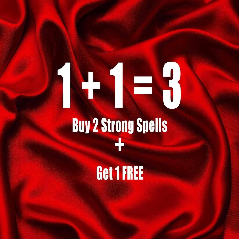 Buy 2 Strong Spells Get 1 Free